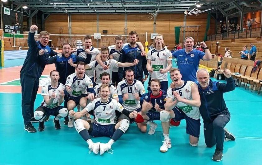Im Halbfinale der Deutschen Volleyballbundesliga 2020 / 2021